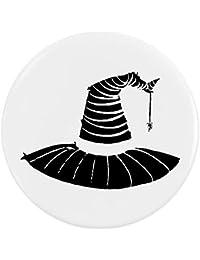 Azeeda 58mm Sombrero de Bruja Insignia de Botón Pin (BB00032808)
