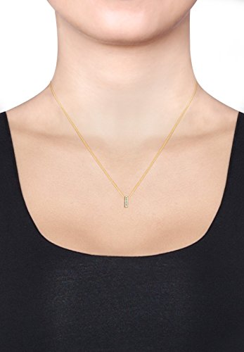Diamore Damen Kette mit Anhänger 585 Gelbgold Diamant weiß 0,10 ct Brillantschliff 45 cm 0108232216_45