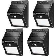 VicTsing Luz de solar LED/foco LED con Sensor de Movimiento de 400lm 20 LEDs