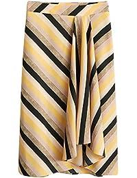 036fa11014 MANGO Women s Multicolor Striped Skirt 43060850 Yellow