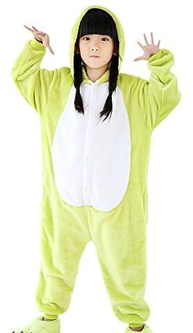 iPerry Unisex Kinder Kostüm Pyjamas Tierkostüm Schlafanzug Kind Onesies Unisex Halloween-Pyjama Fancy (Frosch-kostüm Muster Kind)