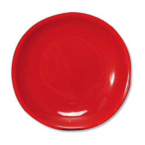 Bruno Evrard Assiette Dessert Rouge en faïence 20cm - Lot de 6 - TERANA