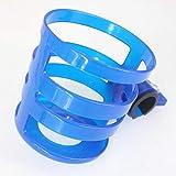 Portabicchieri per Passeggino, Porta-biberon a sgancio rapido Porta biberon Portabottiglie portabiciclette (Color : Blu)