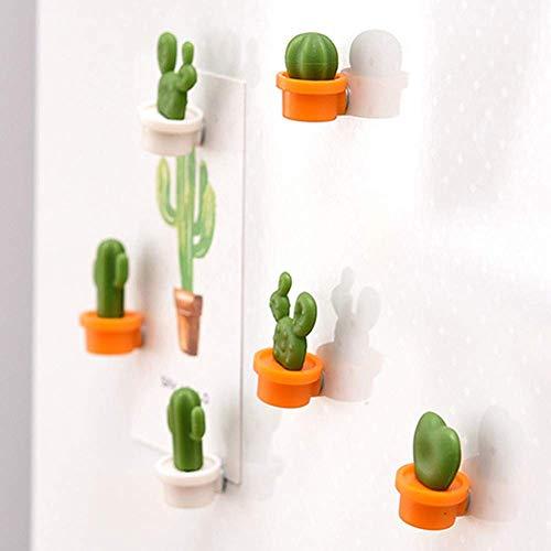 SUJING 6 süße Sukkulenten-Magnete, süße Dekoration Kühlschrank Aufkleber Kreative Nachricht Nachricht Magnet-Aufkleber Geschenk, Orange