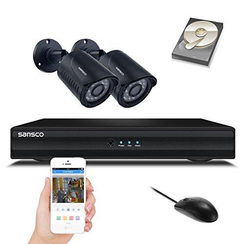 Kare® 720P HD 4Kanal DVR Recorder CCTV Kamera System mit 1280* 720P Nachtsicht Sicherheit Überwachungskamera Dome Kameras (Hohe Auflösung 1200TVL, 1080p HDMI DVR, IP66Wetterfest Metall Gehäuse,; Schneller und einfacher Fernzugriff, Smartphone Gerät betrachten, 1TB HDD vorinstalliert) Swann 4 Channel Dvr