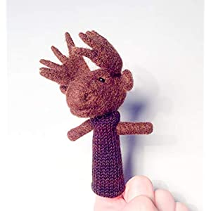 Fingerpuppe Elch