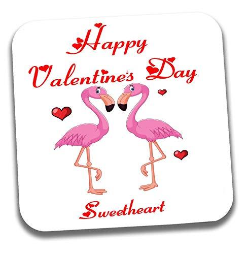 Valentinstagsgeschenk für Sie oder Ihn, niedlicher rosa Flamingo Love Untersetzer - wählen Sie Ihren Partner Partner Partner Partner Partner Partner Partner Partner Nickname, Sweetheart -