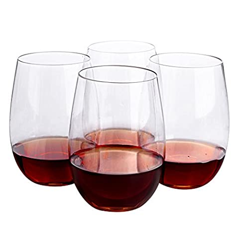 Topsky Unbreakable Wine Glasses ,Tritan Shatterproof Reusable Glass for Red