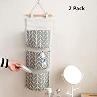 Hängeorganizer Wand Hängenden COLORFUL 3 Grids Wandbehang Aufbewahrungstasche Organizer Spielzeug Container Dekor Tasche (Grau)