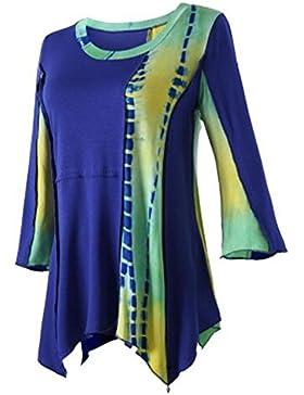 Kerlana Maglietta Donna Manica Lunga Girocollo Casuale Camicetta Stampa T-Shirt Orlo Irregolare Tops Bello Moda
