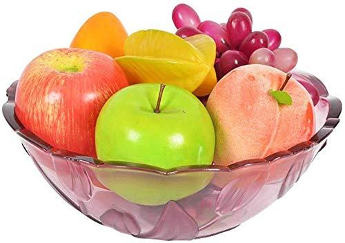 WENYAO Obstschale Einfache und Modische Kunststoff Europäischen Obstschale Dessert Salatschüssel Kreative Wohnzimmer Dekoration Trockenfrüchte Platte Ablageschale (Farbe: Rot, größe: 24 * 24 * 5,2 (Stapelbar Dessertteller)