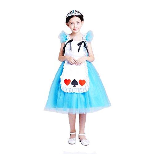 Kleinkind Kostüm Alice Prinzessin Kleid Cosplay Halloween Geburtstag Party Fancy Kleid (Elsa Frozen Für Kleinkinder Kostüm)