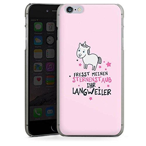 Apple iPhone 6 Hülle Case Handyhülle Einhorn Unicorn Sprüche Hard Case anthrazit-klar