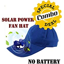 GKP Products Combo of -3 1x Solar Power Air Fan Hat Peak Cap, 1x Mobile Charging Stand Wall Holder & 1x 4 in 1 USB Hub