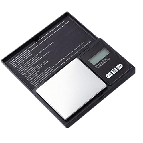 KÜChe Waage,Jaminy 200g * 0,01 g LCD Digital Pocket Scale Jewelry Gold Gramm Waage Gewicht Elektronische Waage (Pocket Scale)