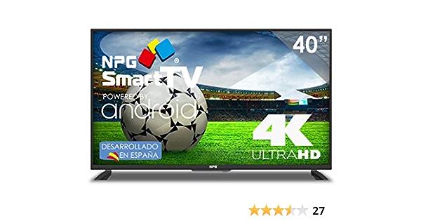 40 Zoll Led Npg Smart Tv Android Ultra Hd 4k Tdt2 H 265 Elektronik
