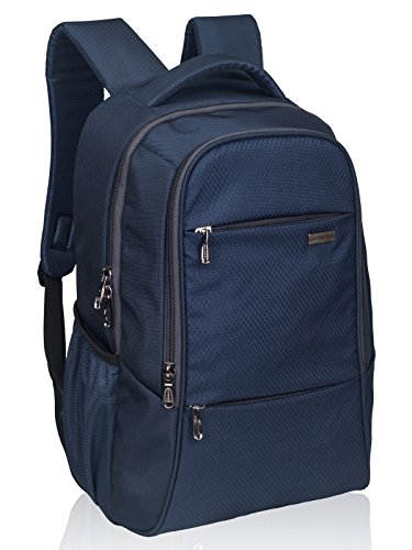 4. COSMUS Polyester Navy Blue Laptop Backpack