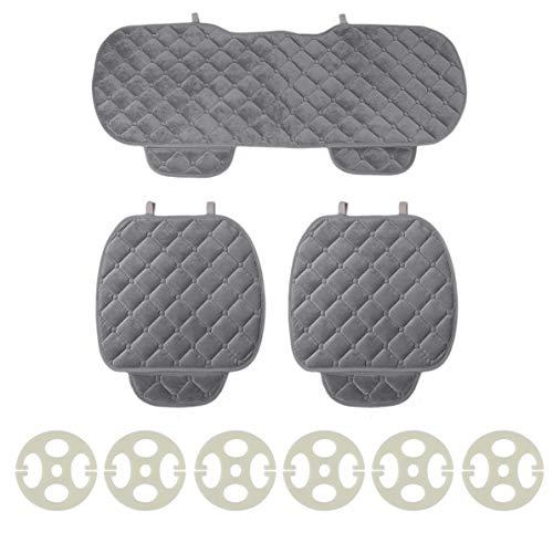 DoMoment Cuscino per seggiolino auto, 3 pezzi Cuscino per seggiolino auto traspirante, sedili anteriori e posteriori per veicoli, tappetino per sedie