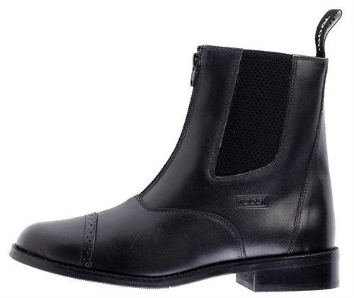 Toggi Augusta Zip-up Leather Jodhpur Boot In Black, Size: 7 by William Hunter Equestrian