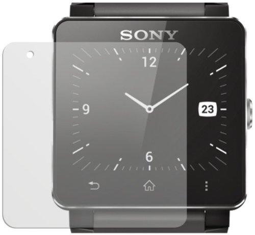 dipos I 2X Schutzfolie matt passend für Sony Smartwatch 2 Folie Bildschirmschutzfolie
