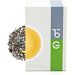Teabox Herbal Rose Green Tea, Green Delight 3.5oz/100g (40 Cups) Rose, Jasmine Infused Loose Leaf