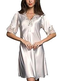 ZhuiKunA Mujer Camisones Camisa de Dormir Nightdress Lounging Loose Lencería Camisón de ...