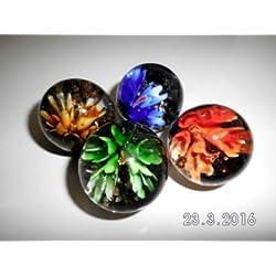 Mármol de flores (35 mm 12 canicas)