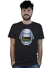 Camiseta Dj Casco de Daft Punk, t-shirt negra, música electrónica, funky