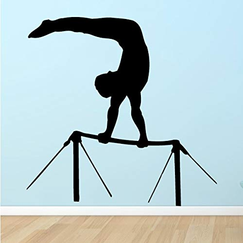 hanmuchen Gymnastics High Bar Wall Stickers Sports Style Wall Decals for Studio Removable Vinyl Gymnast Room Decoration Gym Stickers 42 * 42cm