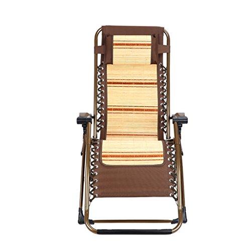Poltrona imbottita sedia pieghevole sedia pausa pranzo sedia estiva fresca sedia in bambù sedia a sdraio