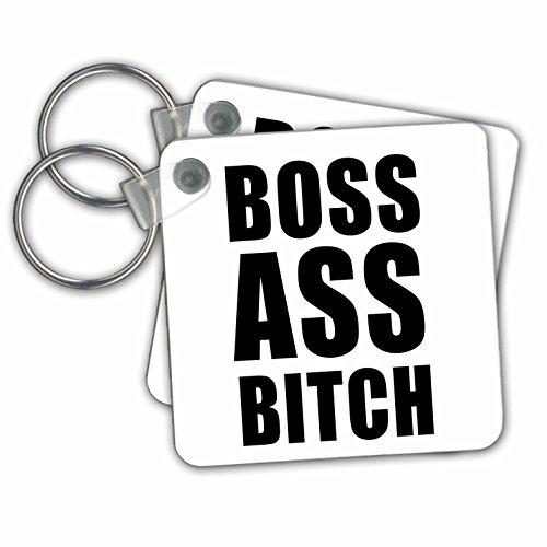 3drose Boss ASS Bitch-Schlüssel Ketten, 5,7x 5,7cm Set 2Stück (KC 232967_ 1)