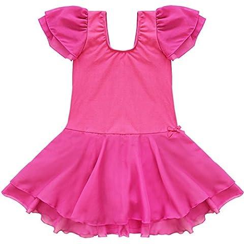 iiniim Girls Chiffon Tutu Ballet Dance Leotard Kids Gymnastics Skirt Costumes