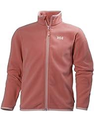 Helly Hansen Jr Daybreaker Fleece Jacket, Chaqueta Deportiva para Niños, Rosa, 10 Años (Tamaño del Fabricante:10)