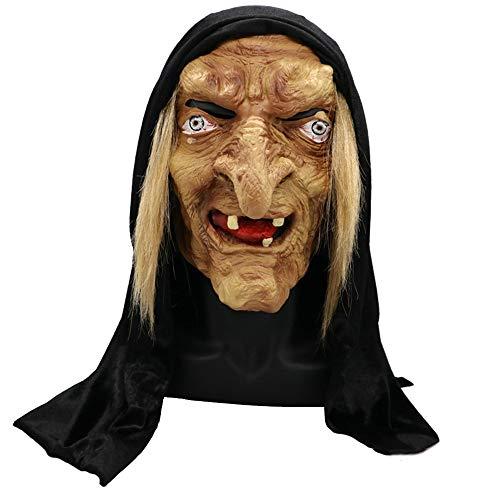 (Bangxiu Halloween Horror Hexe Maske Nonne Maske Jungfrau Maria Nonnen Kostüm)