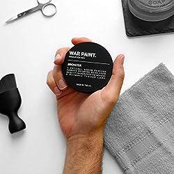War Paint - Herren Bronzer Matte Finish Herren Make-up - Mischung gut für einen natürlich gebräunten Look - Hochwertiges natürliches veganes Make-up - Formuliert für Männerhaut