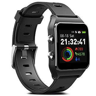 MorePro – Reloj Inteligente con GPS y 17 Modos Deportivos, 50 m, IP68, Resistente al Agua, podómetro, Monitor de sueño, recordatorio de Mensajes