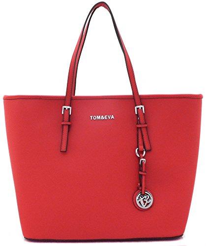 Preisvergleich Produktbild Shopper Tasche Handtasche Rot Tom & Eva TE-Jet Set Travel
