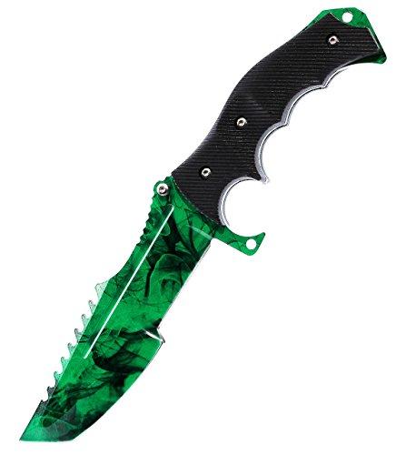 ariknives - Huntsman Knife Counter Skin Knife CS GO Strike Messe Jagdmesser taktisches Überlebens Camping Werkzeug (Gamma Doppler)