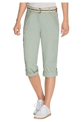 COOL CODE 7/8 Hose für Damen, mit Gürtel Damen-Shorts,Shorts,Cargo-Shorts,6/8-Shorts, Hellgrün