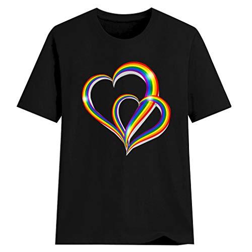 irt Große Größen Kurzarm Rundhals Einfarbig Sommer Blusen Shirts Tops Casual Lose Kurzarm Mode Elegant Drucken Party Oberteile ()