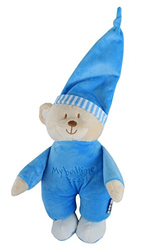 My Bed Time Bear Kuscheltier, Teddybär, Himmelblau, geeignet für Babys ab 0 (Time Bear Bed)