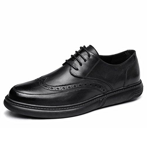 XIGUAFR Chaussure en Cuir Bullock Commercial pour Homme Sculpté Classique Chaussure de Ville au Loisir Résistant à L'usure