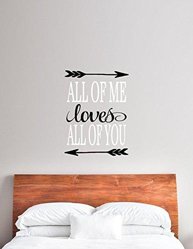 Weißes Ambiente Ist Die Kunst (Schwarz & Weiß Alle von Mir Loves All of You Vinyl Aufkleber-Love Wandbild Vinyl Aufkleber für die Home Oder Schlafzimmer, 50,8cm W x 67,3cm H)
