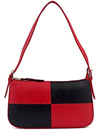 S.B.BAGS Aaimfa PU Leather Women Red & Black Sling Bag