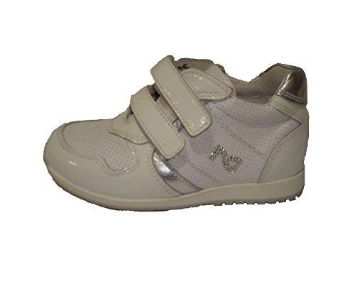 Nero Giardini Junior, Chaussures Premiers Pas pour bébé (Fille) Naplak Bianco - - - Naplak Bianco, 19 EU
