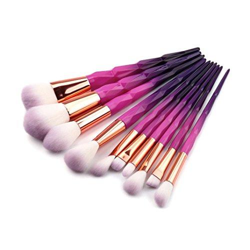 Pinceaux Maquillages,Cosmétique Brush,Beauté Maquillage Brosse,PowerFul-LOT 10 PCS Make Up Fondation Sourcils Eyeliner Blush Cosmétique Concealer Brosses
