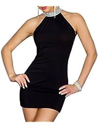 Simple-Fashion Donna Estivi Vestiti Hot Moda Tinta Unita Abito da Sera  Cerimonia Cocktail Partito Sexy Halterneck Senza Maniche Mini Vestito a… bf5b928cba8