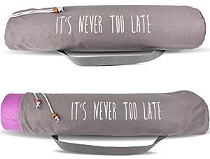 Yogatasche (grau) - 100% Baumwolle - Yogabag - Perfekter Schutz für deine Yogamatte
