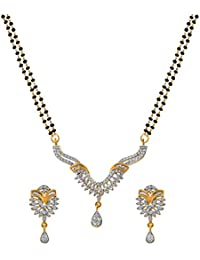 Alysa Brass Mangalsutra for Women Silver - 2MS036501