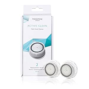 Magnitone Active Clean Replacement Brush Head - White, Pack of 2